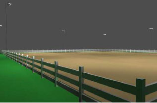 200 x 200 horse arena light package