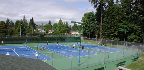 Tennis Court Lighting Kit On Canadian Tennis Court
