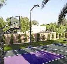 Half Court Basketball Lighting System Installed