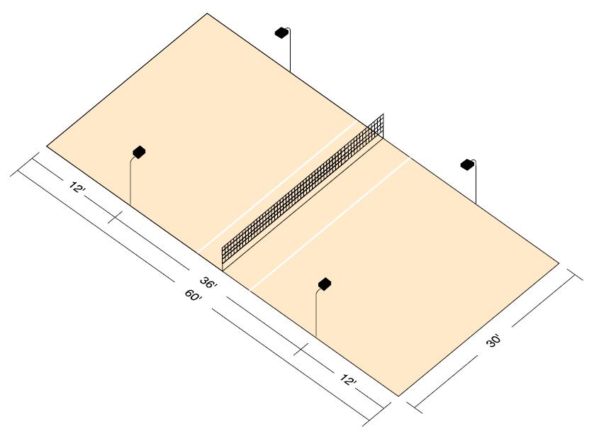 Basketball Half Court Lighting System